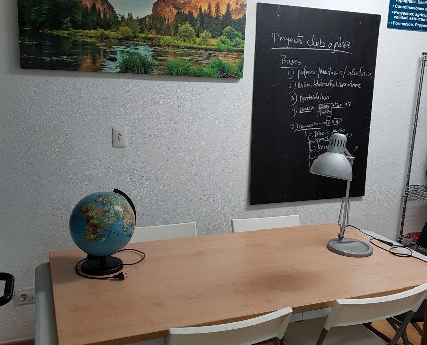 alquiler de despacho aula con capacidad para 4 personas